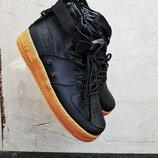 Бесплатная доставка. Топ качество. Кроссовки Nike SF Air Force 1 Mid черные KS 1243