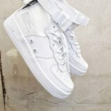 Топ качество. Кроссовки Nike SF Air Force 1 Mid белые KS 1244