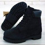Мужские ботинки Тимберленд Black. Демисезон.