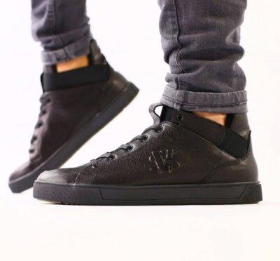 Ботинки мужские, натуральная кожа, черные