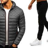 Комплект Куртка ветровка бомбер штаны джоггеры мужские брюки осень