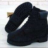 Мужские ботинки без меха. Демисезон. Черный.