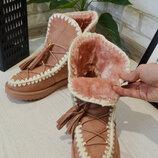 Фирменные зимние полусапожки Liberty,яркие теплые ботинки,сапожки