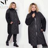 Новиночки Классное пальто- зима, размеры 48- 58