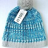 Новая стильная теплая унисекс шапка IGLU с бубоном. One size.