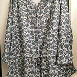 Блуза батал, на кулиске на 62-72 размеры