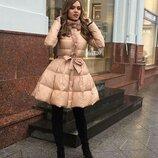 Оригинальное Пальто с клешной юбкой, Размер С . М.