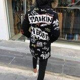 Хит сезона. Топ качество. Стильная мужская куртка зимняя OPEN черная F 559