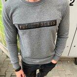 Стильный мужской свитшот Philipp Plein,3 цвета S-M-L-XL-ХХL