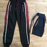 Спортивные брюки с начесом для мальчиков р.134-164