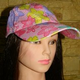 Кепка бейсболка женская розовая с цветами и блестящими капельками.