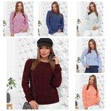 Теплый ажурный свитерок 44-48, 8 цветов