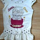 Туника, футболка летняя для девочки, 6 лет, р.116