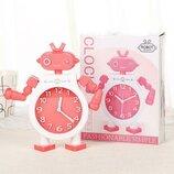 Детские настольные часы-будильник Робот. Красный