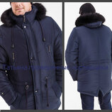 44-54 Мужская зимняя куртка, Мужская парка, Куртка с капюшоном. с мехом, Чоловіча тепла куртка парка
