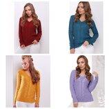 Джемпер, вязаный свитер 44-50 -13 цветов