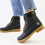 Ботинки T натуральная кожа, зимние, темно - синие