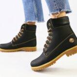 Ботинки T натуральная кожа, зимние, черные
