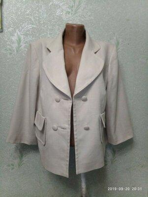 Шикарный ,брендовый нарядный жакет пиджак NEXTс переливом р.18 53-54-56