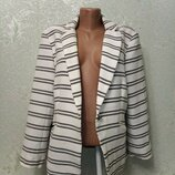 Стильный жакет на подкладке, красивая ткань Adrienne Vittadini р.М 46-48-50