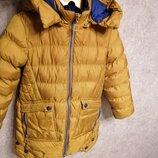 Горчичная зимняя куртка, пуховик