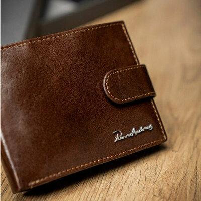 Мужское кожаное портмоне Pierre Andreus N992L-VT коричневый