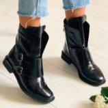 Ботинки, натуральный наплак, деми и зима, черные