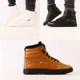 Ботинки мужские, натуральная кожа, зима, черные, белые, рыжие