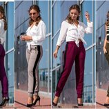 44-48, Вязаные брюки с лампасом, Женские брюки. Теплые брюки. Жіночі брюки штани