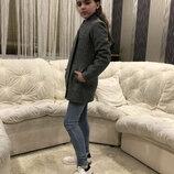 Пальто на девочку подростковое пальто для девочки демисезонное пальто жакет на подкладке
