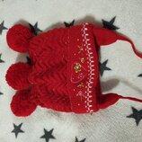 Зимняя шапка шапочка для девочки 3-5лет