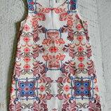 красивое хлопковое платье ZARA 7-8 лет