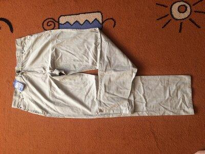 Тонкие новые с этикеткой Испания хлопок бежевые штаны