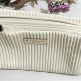 Стильная красивая косметичка сумочка для косметики White BVLGARI Оригинал Италия