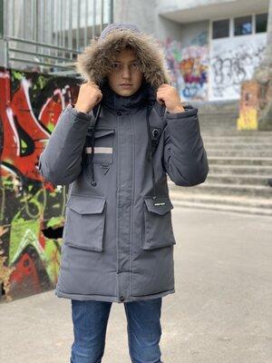 Зимняя парка,курточка для мальчика подростка -40% скидка