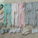 колготы и носки от 0-12мес