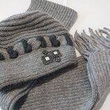 Женская теплая шапка, женский теплый шарф