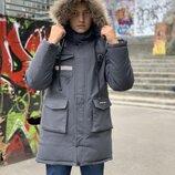 Зимняя парка,курточка для мальчика подростка с наушниками USB