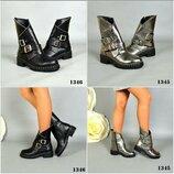 Р.36-41 Женские натуральные кожаные зимние ботинки сапоги сапожки