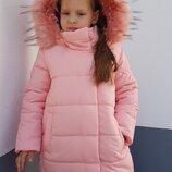 Пальто для девочки - екопух 122-146