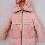 Пальто зимние 128-152