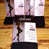 Термоколготки с начёсом из лебяжьего и овечьего пуха ароматизированные Selena