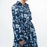 Стильное платье миди две расцветки