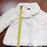 Красивая шубка курточка молочного цвета 86-92 рост