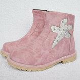 Шикарные Кожаные Демисезонные Ботинки для девочки Вi&ki Том.м р. р. 26-31