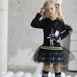 Стильное платье,туника для юных модниц р. 98-152см Mala Mi Польша