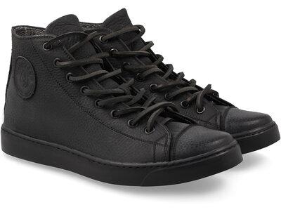 Мужские кожаные кеды кроссовки ботинки Forester черные на мембране