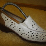 Туфли, балетки, босоножки женские BATA р. 37 стелька 24 на 23,5 кожа