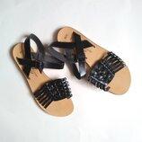 рр 37-38 италия. новые классные босоножки сандали на низком ходу, стелька 24-24,5см
