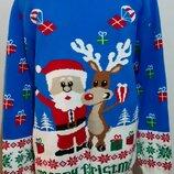 Яркий новогодний свитер